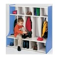 5-Cubbie Floor Locker (ASM) Blue