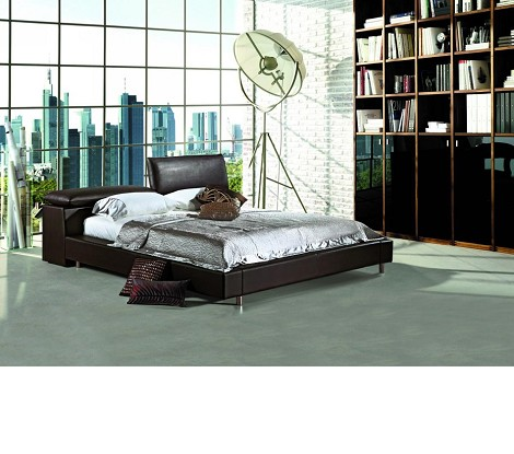 380 - Modern Eco-Leather Bed