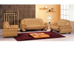 7174 Contemporary Camel Leather Living Room Set