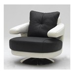 A-238 Modern Full Leather Swivel Chair