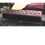 AW619-150 Armani Xavira Black Velour Bench