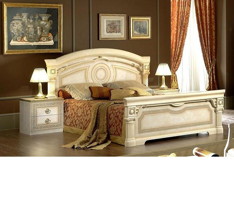 Aida Traditional Italian Bed Made In Italy King Size Only