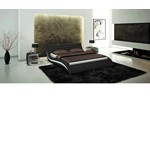 Apollo - Contemporary Black Eco-Leather Bed