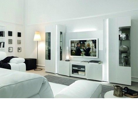 Armonia - Modern Glossy Entertainment Center