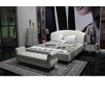 Auspicious Transitional Leather Bed