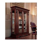 San Marco Dark Walnut 2 Door Dining Display Cabinet