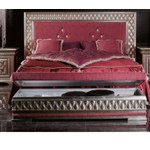 Phedra Silver Master Bed with Headboard