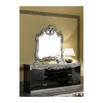 Barocco - Traditional Glossy Black Double Dresser