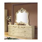 Barocco - Traditional Glossy Ivory Double Dresser