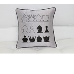 Black And Gray Chess Throw Pillow