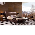 Caesar - Italian Classical Design Leather Platform Bed