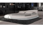 Cerchio - Modern Eco-Leather Bed with LED Lights