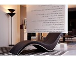 Essen Modern Brown Leather Lounge Chaise
