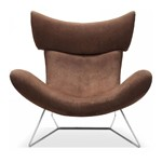 FM108 - Modern Dark Brown Fabric Leisure Chair