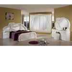 Gina - White Italian Classic Bedroom Set Made in Italy