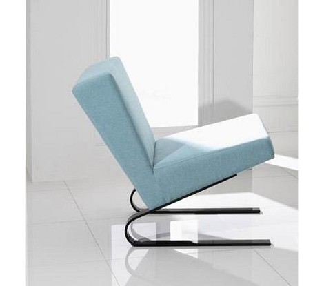 HY-212RH - Blue Fabric Retro Lounge Chair