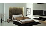 J211 - Contemporary Eco-Leather Bed