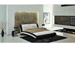 J211B - Contemporary Eco-Leather Bed