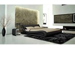 J214B - Contemporary Eco-Leather Bed