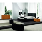 Loto Bed - Black Eco-Leather - Made in italy