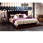 Majestic - Transitional Purple Fabric Bed