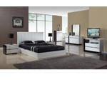 Oxford - Modern Glossy Bedroom Set