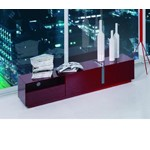 Pisa - Modern Red TV Stand