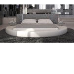 Rotondo - Modern Eco-Leather Bed with LED Lights