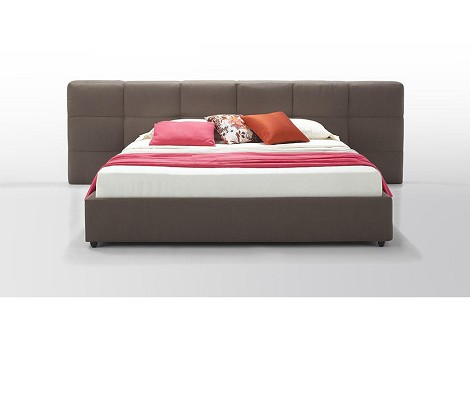 Samana - Modern Brown Eco-Leather Bed