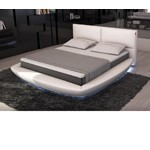 Sferico - Modern Eco-Leather Bed with LED Lights