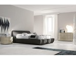 Strip - Graphite Fabric Contemporary Bed - Made in Italy