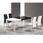 T062 Combi White and Black lacquer table