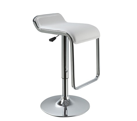 T1048 - Eco-Leather Contemporary Bar White Stool