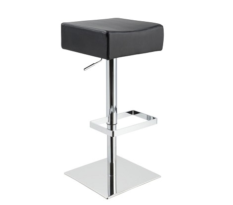 T1059 - Eco-Black-Leather Contemporary Bar Stool
