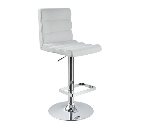 T1066 - Eco-Leather Contemporary Bar White Stool