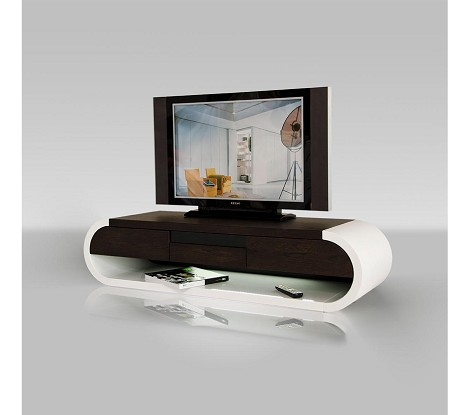 TV091 - Modern Two-Tone TV Entertainment Unit with Light