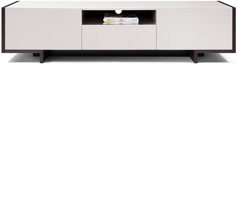 TV100 - Modern Glossy Grey TV Unit