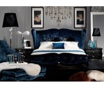 Teal Velvet Fabric Bed AW229-180