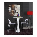 Twirl - White Contemporary LED Gloss Bar Table