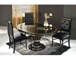 Rossella Black - Round Extend-able Dining Table Made in Italy