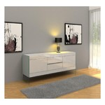 Modern White Floating Sideboard