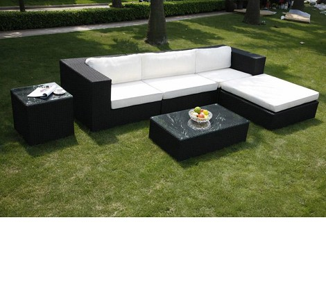 2903L Outdoor Sectional Sofa With Back Cushion