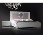 Emma - Modern White Lacquer Bed