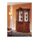 Regina Traditional Walnut 3 Door China Cabinet