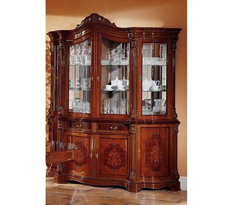 Dreamfurniture Com Regina Traditional Walnut 4 Door