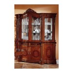 Regina Traditional Walnut 4 Door China Cabinet
