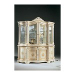 Regina Traditional Italian Antique White 4 Door China Cabinet