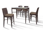 HT25 Maxi - Rectangular Patio Bar Table and Four Bar Chairs