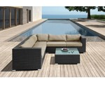 H63 - Modern Patio Sectional Sofa With Coffee Table
