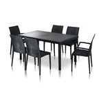 Bistrot - Wicker Patio Dining Table Set